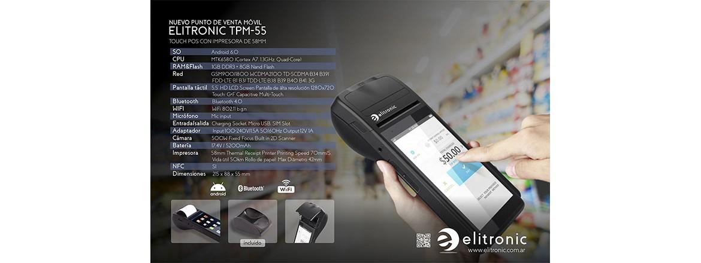 ELITRONIC TPM-55 Nuevo facturador movil